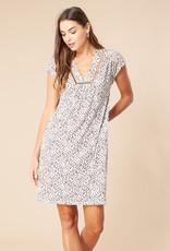 Hale Bob S/S Beaded Dress Ivory