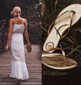 Solei Sea Metallic Gold Flip Flop