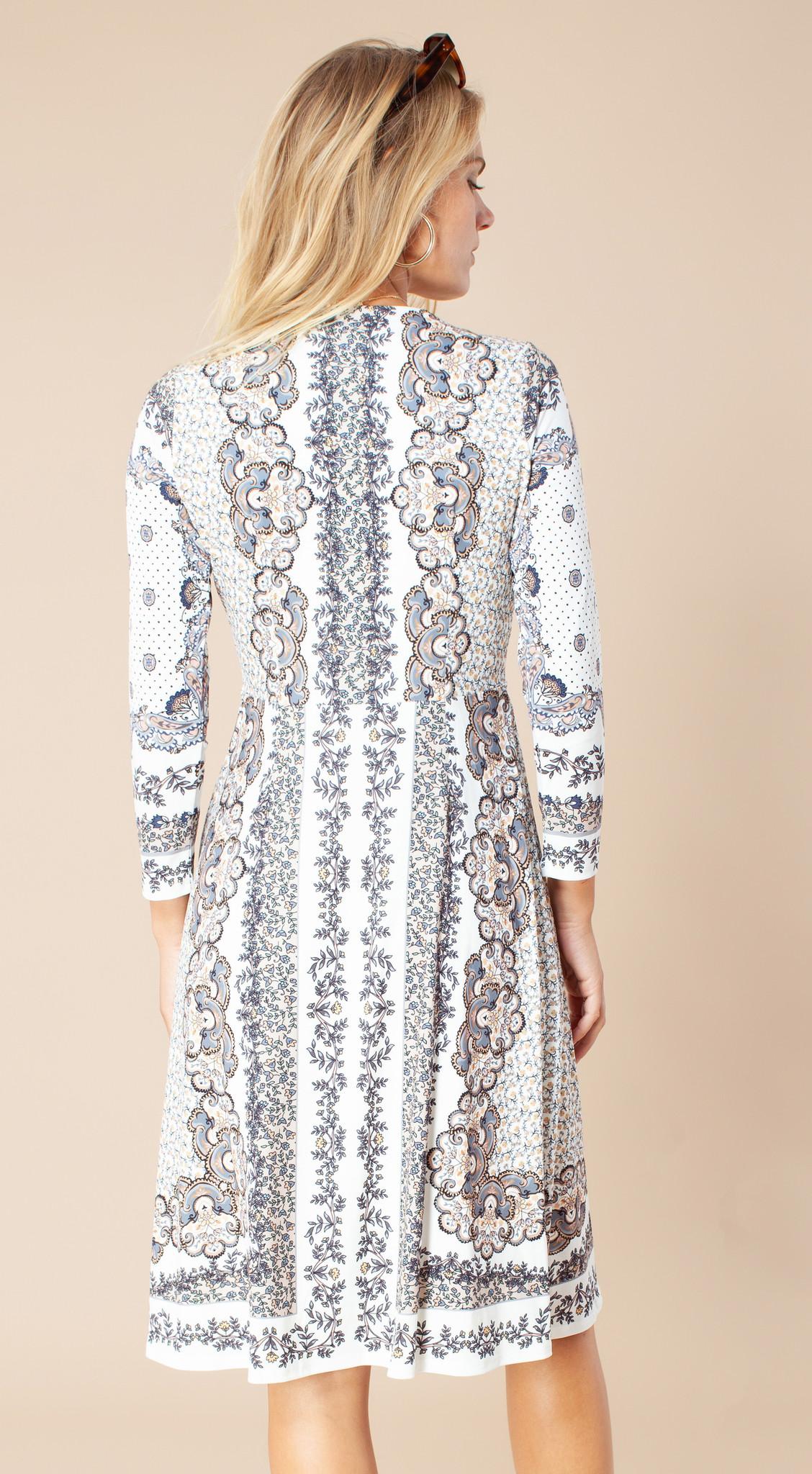 Hale Bob Joss Jersey Dress Ivory