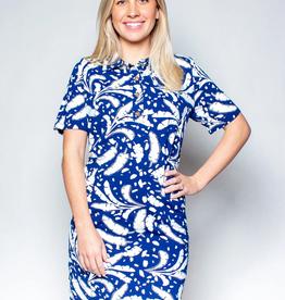 Katherine Way Austin Dress Banana Leaves Navy