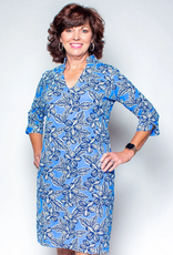 Katherine Way Coco Dress Hibiscus Navy