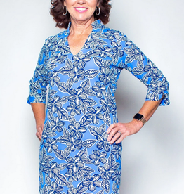 Katherine Way Coco Dress Hibiscus Navy