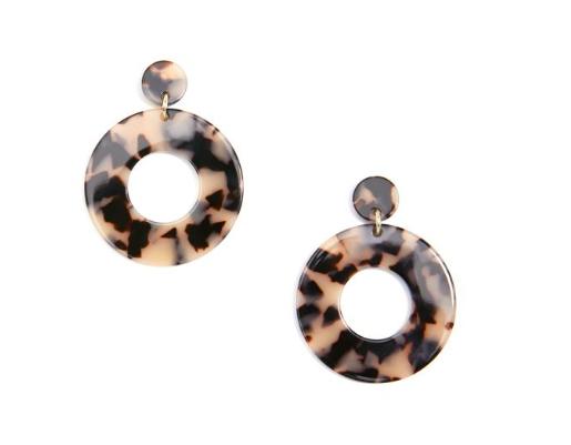Jewelry Chunky Hoop Earrings Green