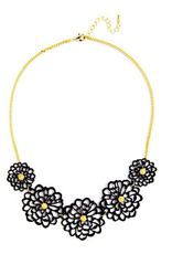Jewelry Floral Cutout Necklace