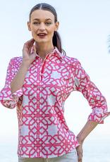Dizzy Lizzie Rome Shirt Pink Geo