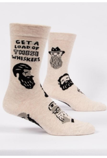 Blue Q Men's Socks Get A Load Of These Whiskers