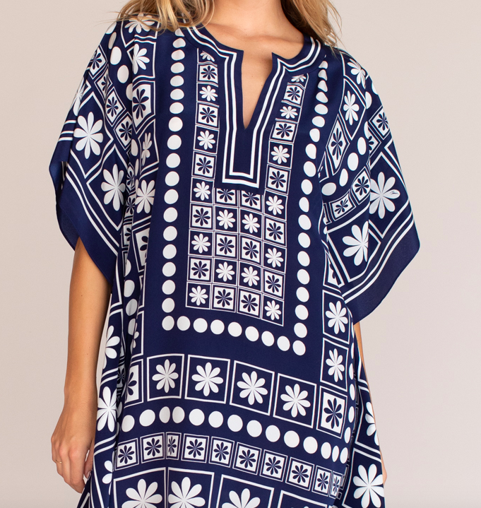 Trina Turk Tropical Tile Theodora Dress