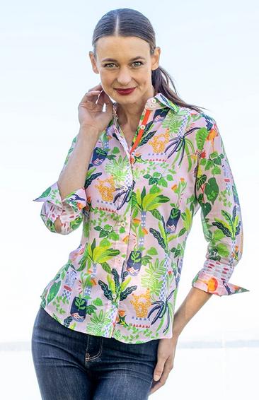 Dizzy Lizzie Rome Shirt Tropical