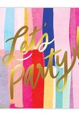 Slant Let's Party Gold Foil Napkins 20 CT