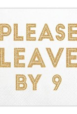 Slant Please Leave By 9 Gold Foil Napkins 20 CT