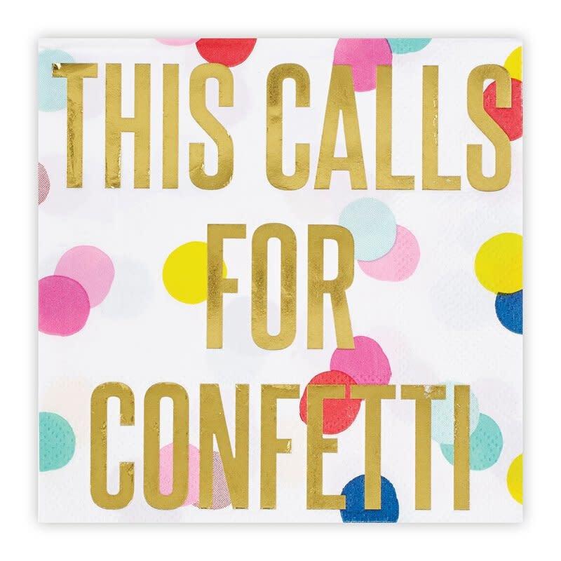 Slant This Calls For Confetti Napkins 20 CT