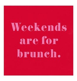 Slant Weekends Are For Brunch Napkins 20 CT