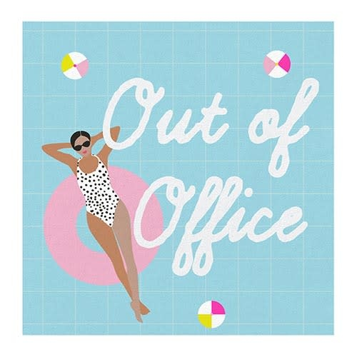 Slant Out Of Office Napkins 20 CT