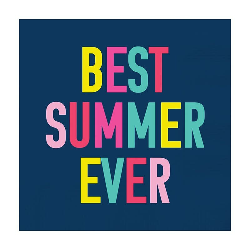 Slant Best Summer Ever Napkins 20 CT