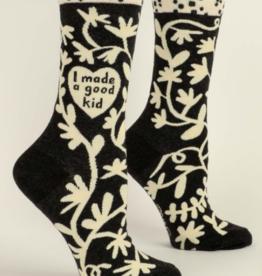 Blue Q I Made a Good Kid Womens Socks