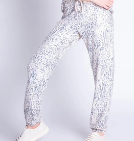 PJ Salvage Animal Print Banded Pant