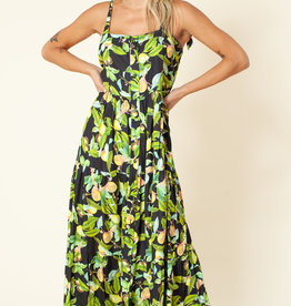 Hale Bob Maxi Dress Lemons
