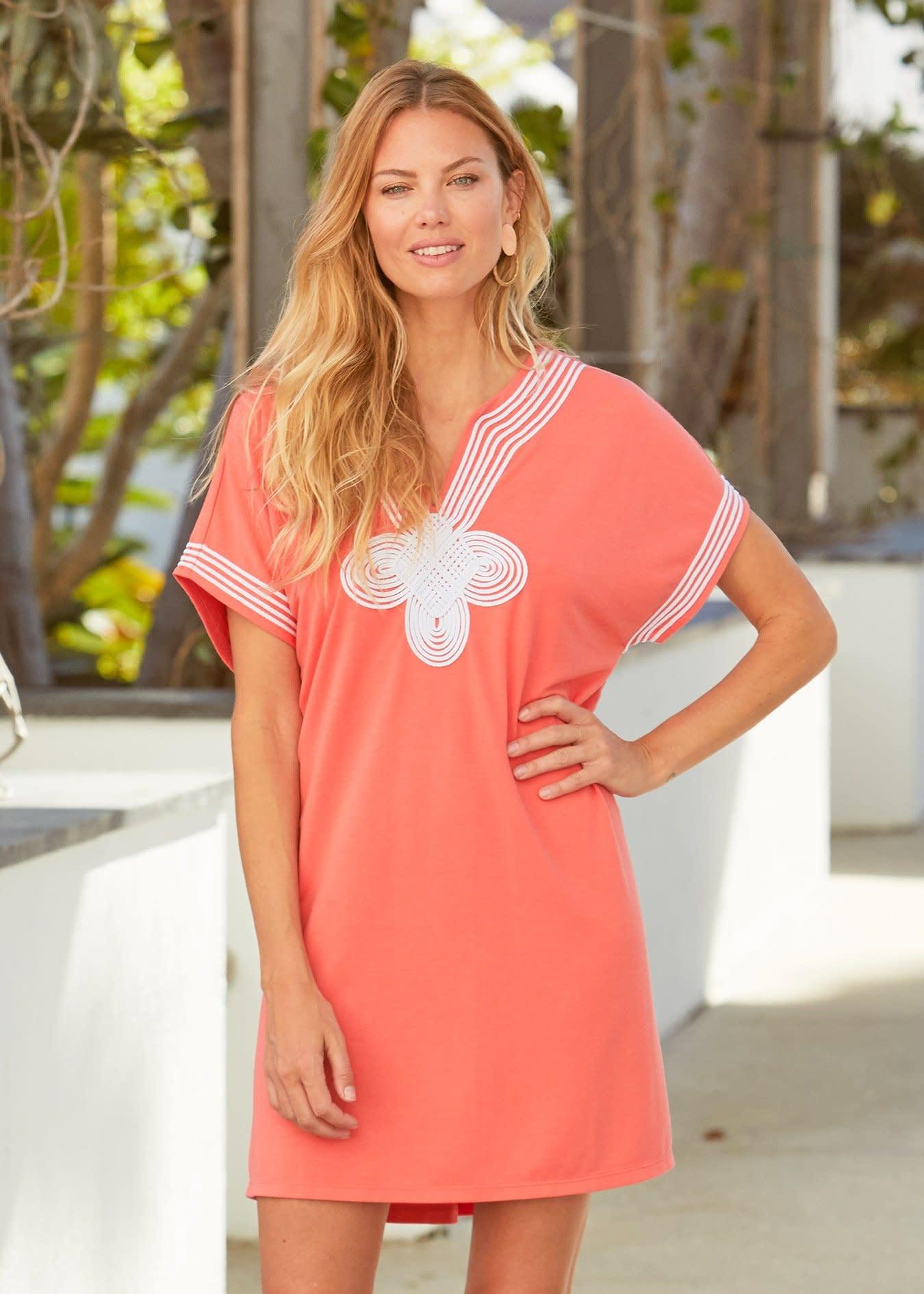 Cabana Life Terry Dress Coral Tides