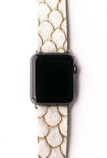 Keva Style Scalloped in Taupe Watch Band