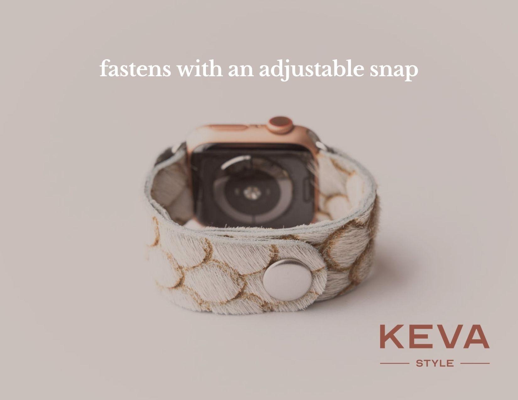 Keva Style Starburst Platinum Watch Band