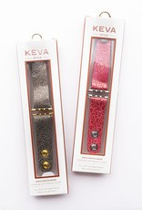 Keva Style Carved Brown Watch Band