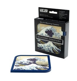 Modgy Silicone Coasters Set of 4 Great Wave