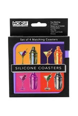 Modgy Silicone Coasters Set of 4 Martinis