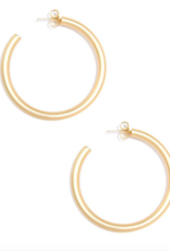 Jewelry Matte Finish Large Hoop Earring