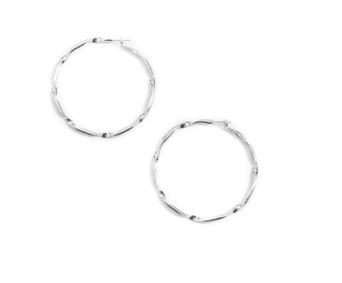 Jewelry Twisted Metal Hoop Earring