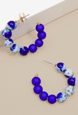 Jewelry Small Mixed Beads Hoop Earring