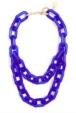 Jewelry Colorful Resin Link Necklace