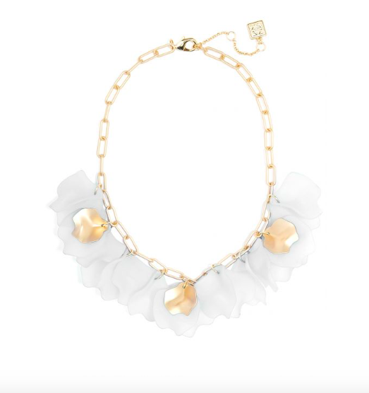 Jewelry Sheer Layered Petals Necklace
