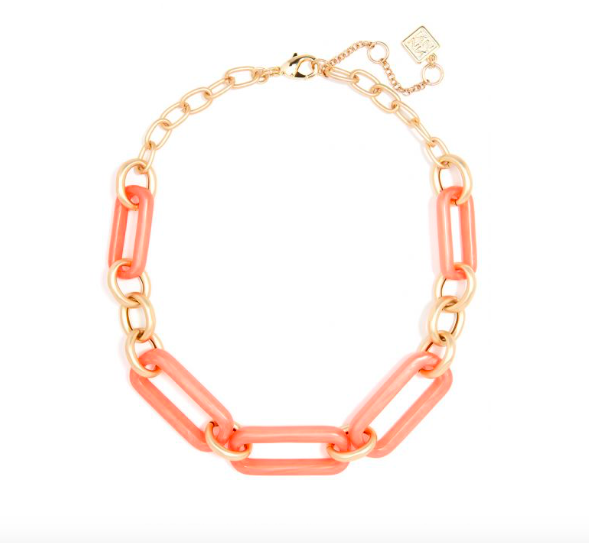 Jewelry Iridescent Resin Link Necklace