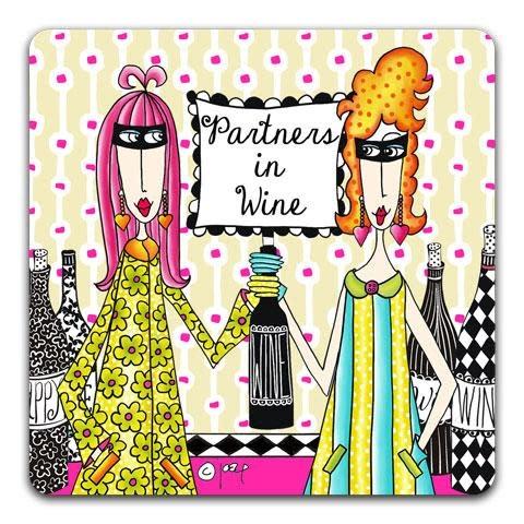 Partners In Wine Coaster