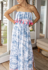 Skemo Skemo Ruffle Maxi Dress Aqua
