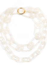 Jewelry Tortoise Resin Link Long & Short Necklace