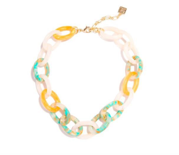 Jewelry Multicolor Link Collar Necklace
