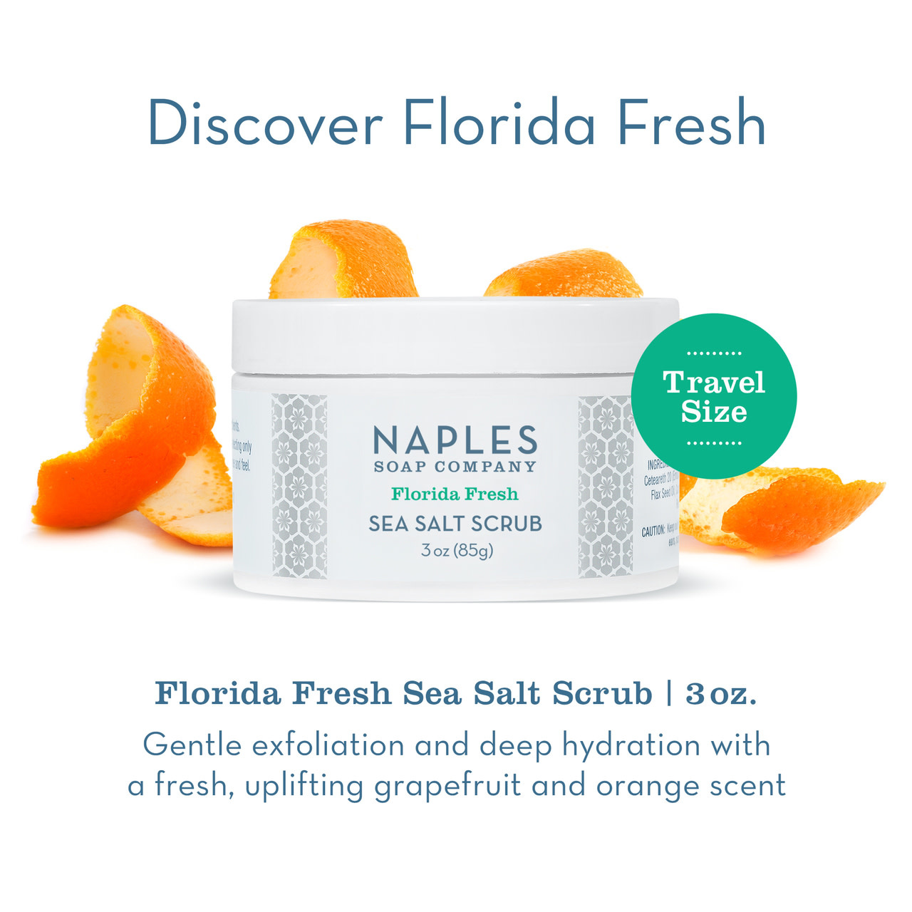 Naples Soap Co. Florida Fresh Sea Salt Scrub 3 oz