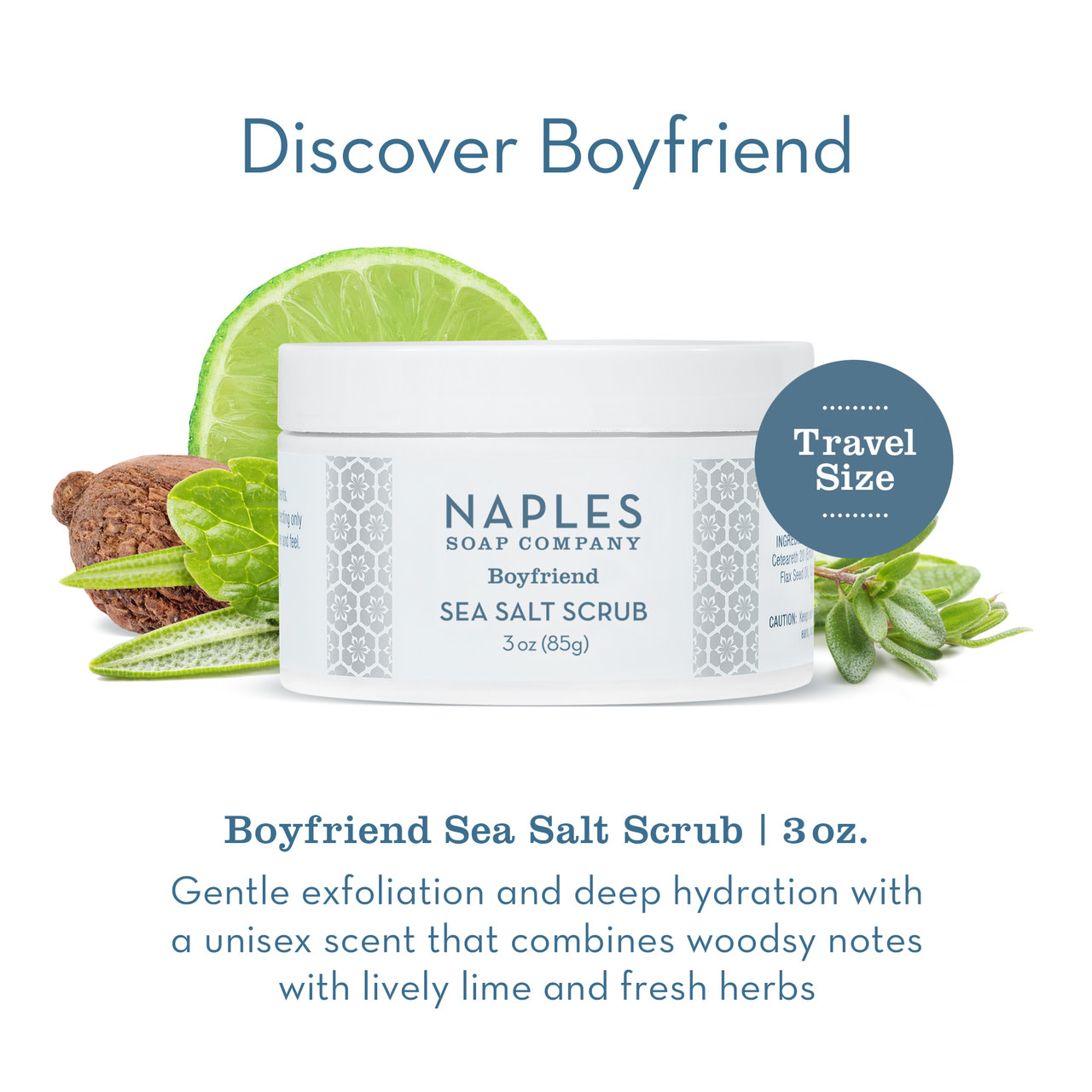 Naples Soap Co. Boyfriend Sea Salt Scrub 3 oz