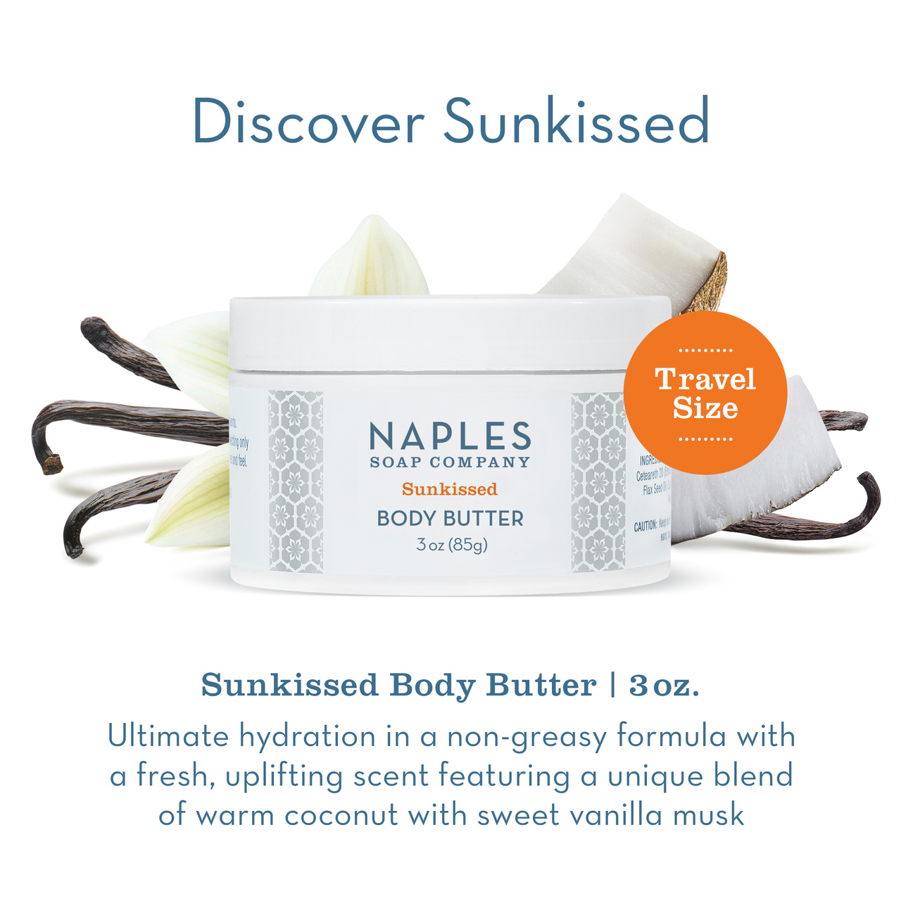 Naples Soap Co. Sunkissed Body Butter 3 oz