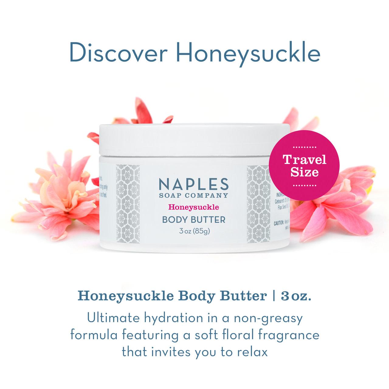 Naples Soap Co. Honeysuckle Body Butter 3 oz