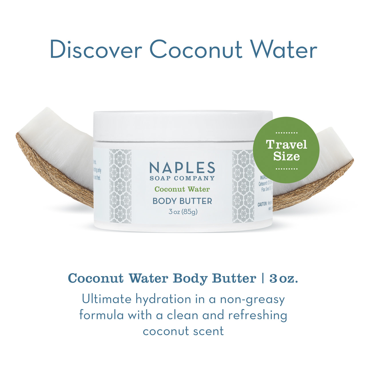 Naples Soap Co. Coconut Water Body Butter 3 oz