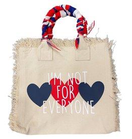 Hipchik Im Not For Everyone Bandana Fringe Tote Bag