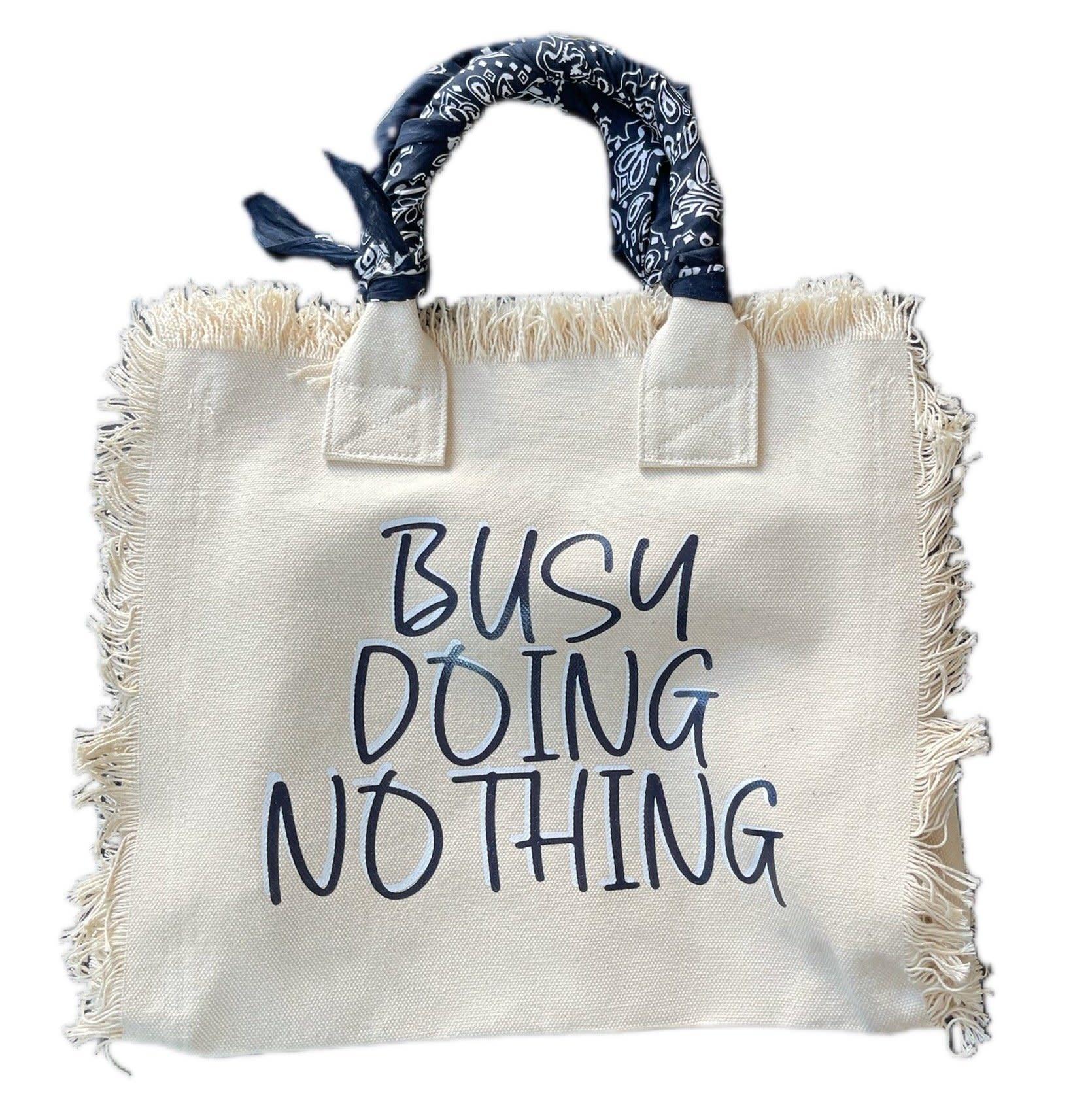 Hipchik Busy Doing Nothing Bandana Fringe Tote Bag
