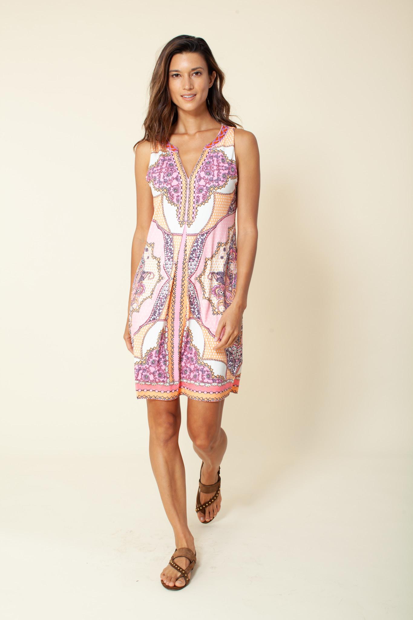 Hale Bob Cambria Jersey Dress Coral