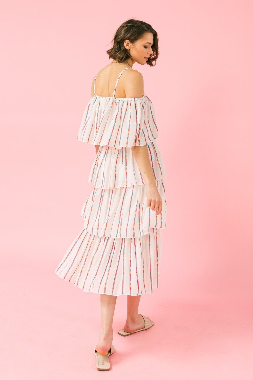 Flying Tomato Multi Off Shoulder Dress