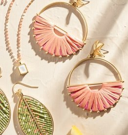 Spartina Pink Lemonade Earrings Gold/Pink