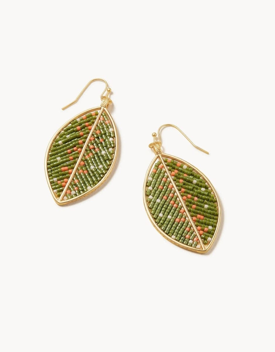 Spartina Bitty Bead Earrings Leaves