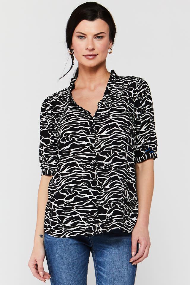 Velvet Heart Bernabe Zebra Shirt