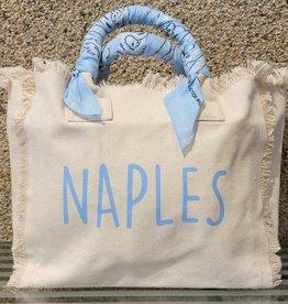 Hipchik Naples Bandana Fringe Tote Blue